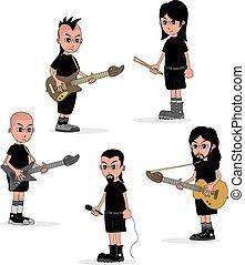 Männliche Zeichentrick-Musikband-Theme.