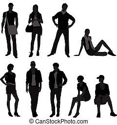 Männliches, weibliches Model