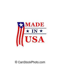 Made in USA Vektor Icon der amerikanischen Flagge
