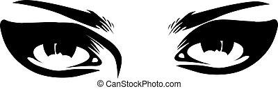 Make-up-Augen schließen