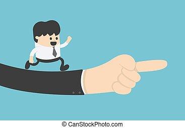 management., hand, begriff, junger, recht, geschäftsmann, geschaeftswelt
