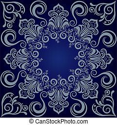 Mandala-Blue-Hintergrund