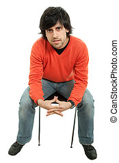 Mann auf einem Stuhl
