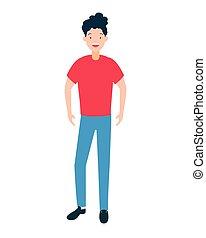 Mann avatar Casual Kleidung.