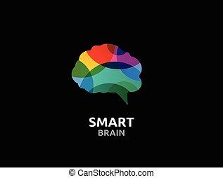 mann, gehirn, kreativer verstand, design, lernen, kopf, ikone