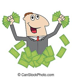 mann, geld, seine, geschaeftswelt, hand