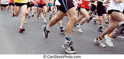 Marathon-Runner rennen