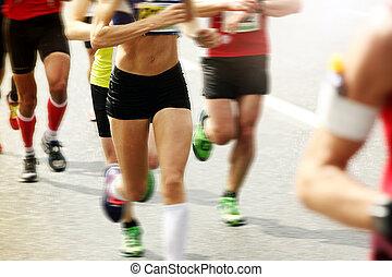 Marathonläufer.