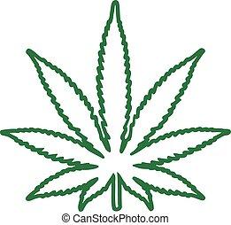 Marihuana-Blatt.