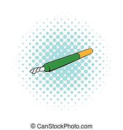 Marihuana Joint Icon, Comic-Stil.