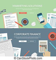 Marketing- und Finanzkonzepte