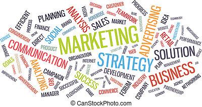 Marketingstrategie Wort Cloud