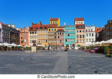 Marktplatz in Warsaw, Poland