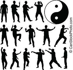 Martial Art Kung Fu Selbstverteidigung.