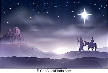 Mary und Joseph Nativity Weihnachten