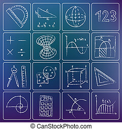 Mathematik-Symbole.