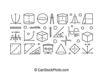 mathematik, trigonometrie, abbildung, grobdarstellung