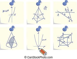 Mathematik und Geometrie-Ikonen