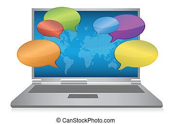 medien, begriff, internet, sozial