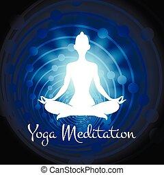 Meditation Yoga Frau Silhouette