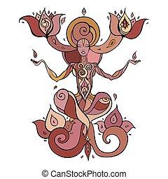 Meditation. Yoga Silhouette.