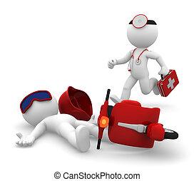 medizin, isolieren, notfall, services.