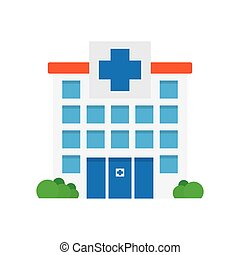 medizin, klinikum, icon., gebäude