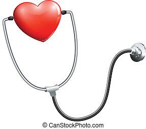 medizin, stethoskop