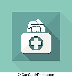 Medizinbeutel-Ikone.