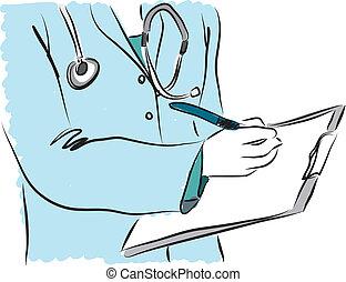 Medizinische Dienstschwester Doktor Anspielung.