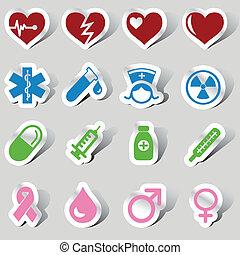 Medizinische Ikone eingestellt