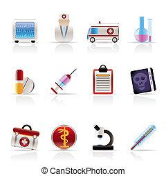 Medizinische und medizinische Ikonen