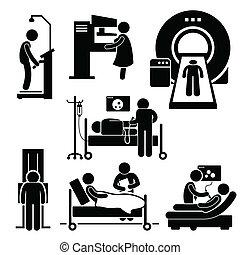 Medizinische Untersuchungsdiagnose.