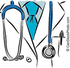 Medizinische Vektorgrafik.