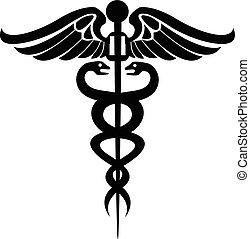 Medizinischer Symbol-Kaduceus.