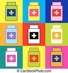 Medizinisches Containerzeichen