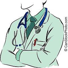 Medizinisches Konzept Doktor Illustration.