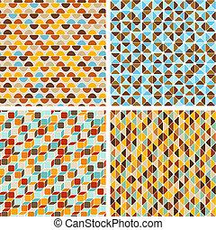 Meereslose, abstrakte geometrische Muster.