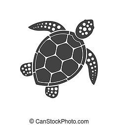 Meeresschildkröten-Ikone