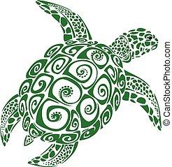 Meeresschildkröten.