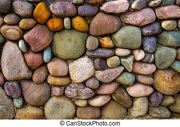 Mehrfarbiger Steinmauer Hintergrund