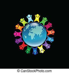 Menschen auf der ganzen Welt