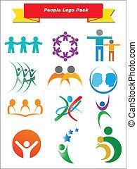 Menschen-Logo-Pack