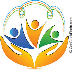 Menschenhände und Verbindungen Logo
