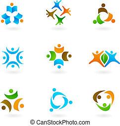 Menschliche Ikonen und Logos 1