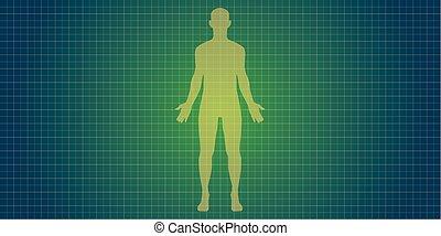 Menschliche Körpersilhouette.