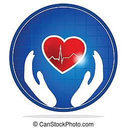 Menschliches Herzschutzsymbol