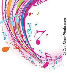 merkzettel, musik, hintergrund
