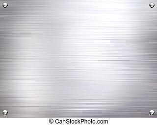 Metallplatte aus Stahl.