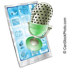 Mikrophone-App-Konzept
